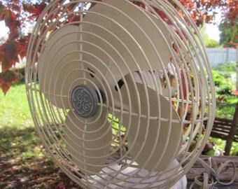 GE  Vintage Fan 14 inch tall Electric Fan Works Fine Gd condition Industrial