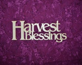 Harvest Blessings Wreath Decorations Unfinished Wood Paintable Stainable Sign