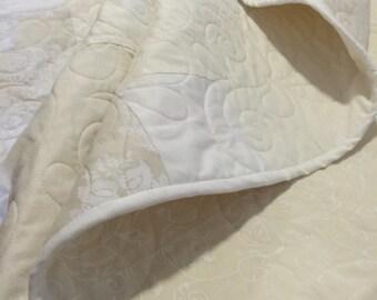 Modern Patchwork wedding quilt - custom made queen bed.