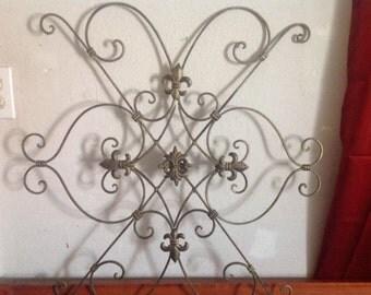 metal scroll wall art etsy. Black Bedroom Furniture Sets. Home Design Ideas
