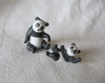 Vintage George Good Miniature Panda Bears Designed by Freeman Bone China
