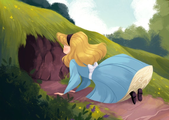 Alice in Wonderland 6x4 mini print
