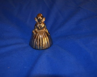 Vintage Brass Bell Shaped Like an Old Fashioned Dutch Girl