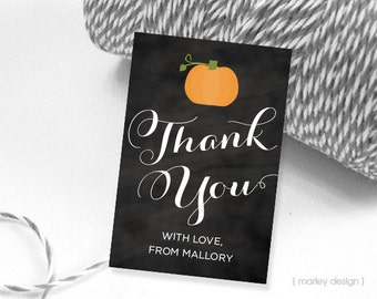 Pumpkin Thank You Tags Pumpkin Favor Tags Pumpkin Birthday Pumkin Shower Baby Shower Tags Shower Favor Tags Pumpkin Party Tags Printable