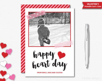 Valentines Photo Card Valentines Greeting Card Announcement Save the Date Happy Heart Day Digital Valentines Card Printable Valentines Day