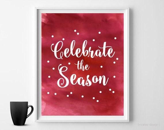 Christmas Watercolor Print Holiday Print Christmas Wall Art ...