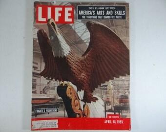 1955 Life Magazine, April 18  - Frigate's Figurehead- America's Arts and Skills - Rock and Roll