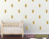 Pineapple wall decals, Pineapple decal, Pineapple wall sticker, wall decals, wall stickers, vinyl wall decal stickers  x 40
