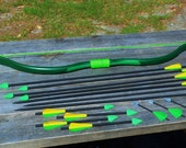 Green Arrow Bow and 14 Assorted Arrows for Cosplay