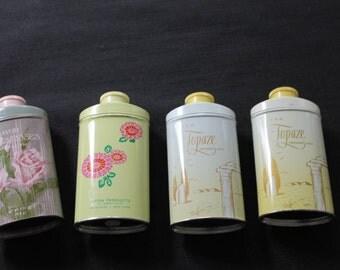 three Avon Lilac Perfumed Talc tins
