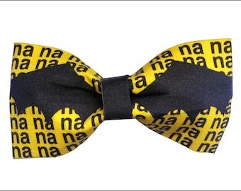 Batman Inspired Hair Bow or Bow Tie Comic Book Superhero Geeky Fabric Bow