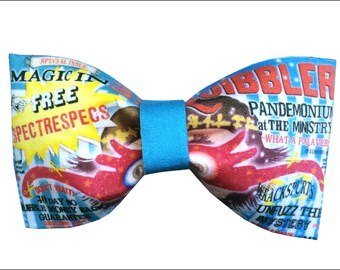 Quibbler Luna Lovegood Inspired Hair Bow or Bow Tie Harry Potter Geeky Fabric Bow