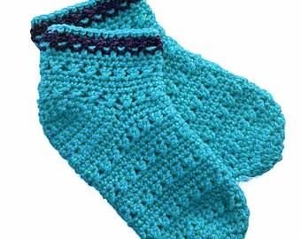 Crochet Pattern X Stitch Slipper Socks PDF 15-208 INSTANT DOWNLOAD