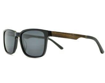 Real Wood Sunglasses, Mens Sunglasses , Black Frame Sunglasses-MDW-BLK
