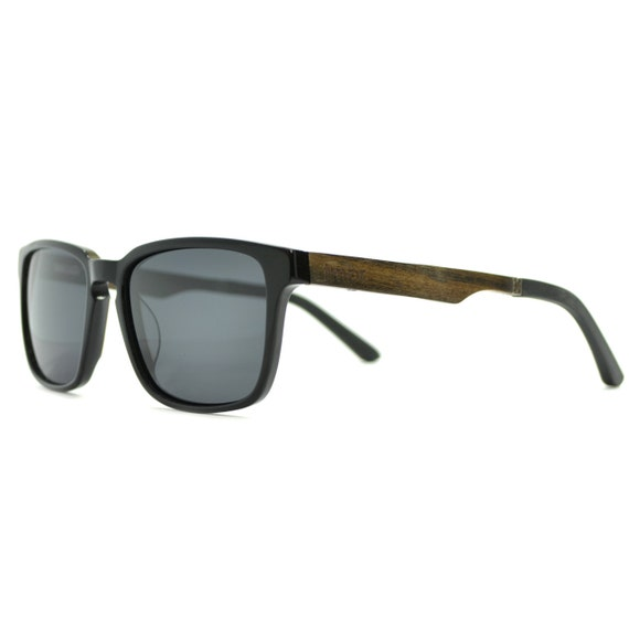 Mens Wood Sunglasses Black Sunglasses Black Frame