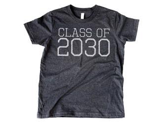 YOUTH Class of 2030 | Kindergarten Soft T-shirt | 5 & 6 year old | Kindergartener | K | Back to school K | Preschool Graduation | Pre K Grad