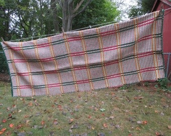 Tablecloth from Finland is Reversible Everyday and Holiday 52 wide x 68 long Vintage