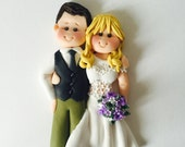 Customised flat wedding cake topper - guestbook decoration - wedding keepsake gift - card topper