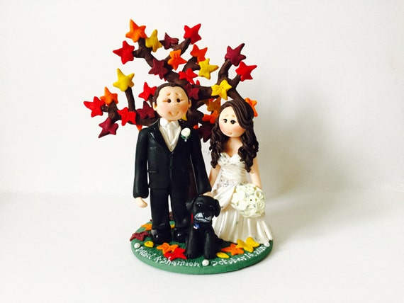pilot flight attendant wedding cake toppers fall autumn theme wedding cake topper custom made and 18522