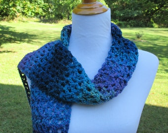 Crocheted Multicolored / Blue / Green / Purple