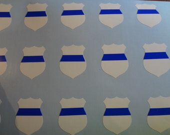 20 Police Window Decals Decal Support Our Blue Lives Matter Sticker Blue White Car Glass Sheriff Police Village Town Officer Football Helmet