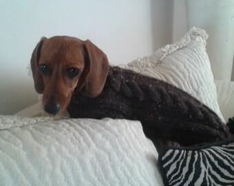 Mini Dachshund Tweed Sweater - CUSTOM