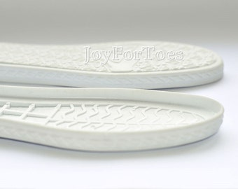 Shoe Rubber Soles for Boots Slipper Soles Crochet Shoes Boots Soles White