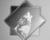 Wolf Singer Double-Mounted Acid Etched Mirror