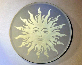 Sun Acid Etched Mirror