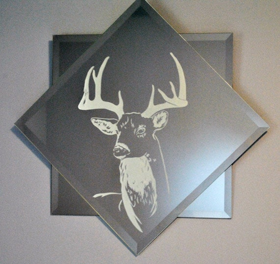 Bambi Double-Mounted Acid Etched Mirror