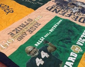 RESERVE LISTING: Notre Dame t-shirt quilt for Diana D.