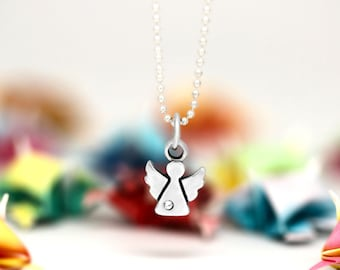Little Angel charm, sterling silver, kid jewelry (Chain Sold Separately)