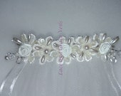 One of a Kind (8) Single Layer First Holy Communion Veil on Comb, White