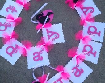 Fashionista banner, fashionista decoration, glamour banner, glamour deciration, girly decoration, girly banner, hot pink banner