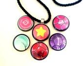 Universe Necklace // Magnetic Necklace // Six Necklaces In One // Garnet, Amethyst, Pearl, Steven, Rose Quartz & Rose's Shield
