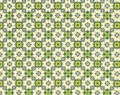Medallion Juniper by Denyse Schmidt Eastham - Green Fabric - Free Spirit Fabric - Denyse Schmidt - Green and Yellow - Green Floral Material
