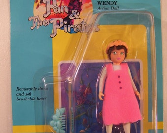Vintage Fox's Peter Pan & the Pirates Wendy Action Doll, Vintage Toy 1991 Still on Card THQ
