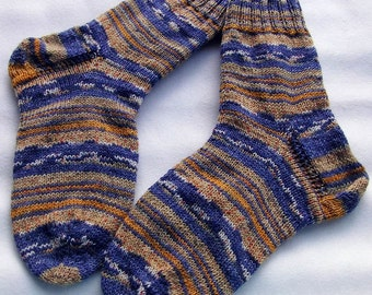 Hand Knit Socks  for Men UK 8-9,5 US 10,5-12  Nr. 22