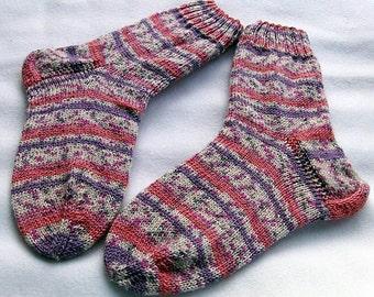 Hand Knit Socks  for Women UK 5-7, US 7-9  Nr. 23