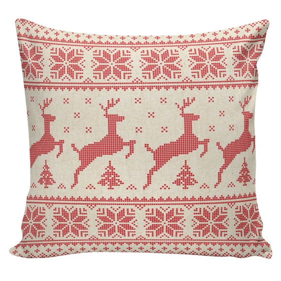 Scandinavian Christmas Pillow : Items similar to Christmas Pillow Vintage Burlap Pillow Cover Scandinavian Swedish Minnesota ...