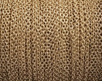 10FT (3mt) Gold Filled chain Cable link 1.5mm , gold cable chain , yellow gold fill cable chain by foot by meter , wholesale jewelry chain