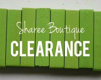 CLEARANCE - 8 HAIR CHALKS - Temporary Color Pastels, Shades of Lime Green