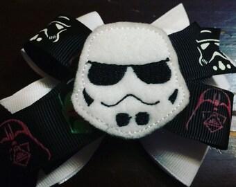 Storm Trooper feltie bow