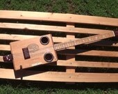 Cigar Box Guitar Padron 4-String Acoustic-Electric Fretted Dual Piezo Pickup Volume Control
