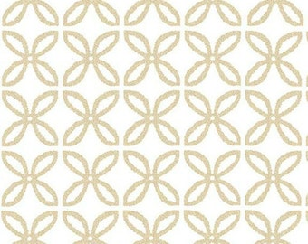 Clover Pearlized in Glimmer - Glitz Celebration collection by Michael Miller Fabrics - Modern metallic gold