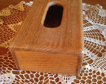 Vintage Wood Tissue Box Cover!!
