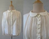 Cream Silk and Lace Blouse