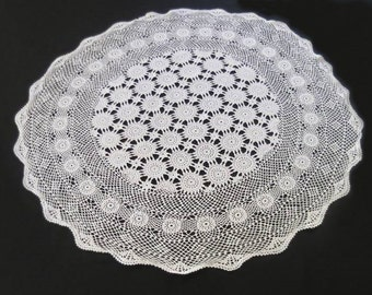 Small Round Crochet Tablecloth