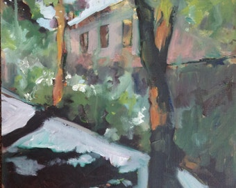 St Andrew's Gardens, London - An oil painting