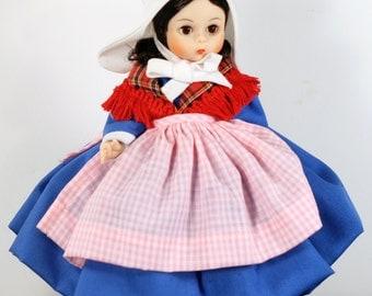 Belgium Madame Alexander Doll 562, vintage collectible international doll
